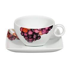 TROPICS - Tea Cup & Saucer Blueberry