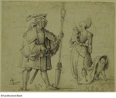 1508 - Urs Graf -  Krieger und Frau mit zwei Kindern (Warrior and woman with two children)