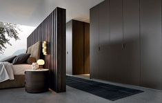 65 trendy Ideas for walk in closet behind bed room dividers dressing area Wardrobe Behind Bed, Bedroom Wardrobe, Bedroom Closets, Men Bedroom, Bed In Closet, Bedroom Apartment, Walk In Closet Design, Closet Designs, Modern Bedroom Design