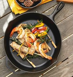 Lodge Cast Iron Skillets - Lodge - Shop by Brand - Cookware Lodge Cast Iron Skillet, Juicy Steak, Paella, Kitchenware, Cookware, Ethnic Recipes, Skillets, Food, Summer Kitchen