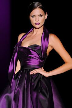 Idées de mariage - Purple : Love this! Not sure about the color but love the look of everything. The Purple, All Things Purple, Shades Of Purple, Purple Dress, Purple Satin, Purple Fashion, Look Fashion, Fashion Clothes, Street Fashion