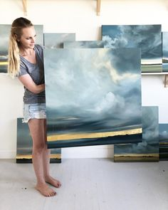 The Transcend Collection l Released September 2018 Abstract Landscape Painting, Seascape Paintings, Watercolor Landscape, Landscape Art, Landscape Paintings, Et Tattoo, Design Digital, Beach Art, Painting Techniques