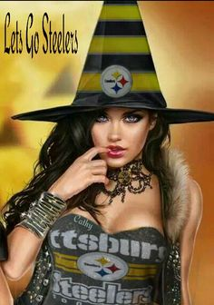 Love Steelers Witches, just so dang hot it's a sin. Steelers Pics, Steelers Gear, Here We Go Steelers, Steelers Football, Pittsburgh Steelers Wallpaper, Pittsburgh Steelers Logo, Dallas Cowboys, Indianapolis Colts, Cincinnati Reds