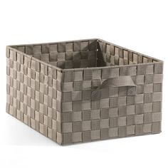 bin for play shelf? made of seat belt material