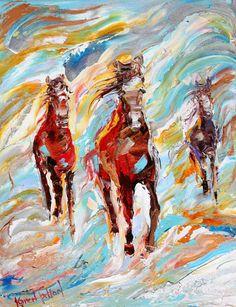Karen's Fine Art – Gallery Represented Modern Impressionism in oils Title: Powerful Three Original oil painting by Karen Tarlton