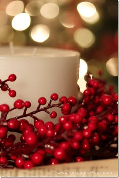 Holiday Decor Idea - Setting for Four