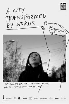 :: Sydney writers festival :: Would love to do a series of posters with photos which are tailored to the graphics drawn over them.: