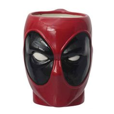 Coming from Monogram International, Inc.It's the Drinkwear & Mugs - Marvel - Deadpool.This ceramic mug features the masked face of Deadpool. He'll do a great job of keeping your coffee hot and safe from bad guys. Marvel Comics, Marvel Mug, Marvel Avengers, Marvel Room, Cool Mugs, Ceramic Cups, Mug Cup, Sculpting, Tea Pots