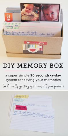Create a DIY memory box featuring your favorite photos