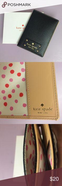 Kate Spade Wellesley Leather Passport Holder NIB Kate Spade Wellesley Leather Passport Holder NIB Black kate spade Accessories Key & Card Holders