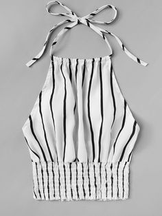 To find out about the Striped Print Frill Hem Halter Top at SHEIN, part of our latest Tank Tops & Camis ready to shop online today! Fashion Sewing, Diy Fashion, Ideias Fashion, Fashion Outfits, Crop Top Outfits, Cute Casual Outfits, Vetement Fashion, Plus Size Tank Tops, Girls Fashion Clothes