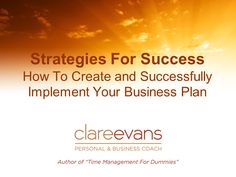 How to Create and Successfully Implement Your Business Plan | BrightTALK