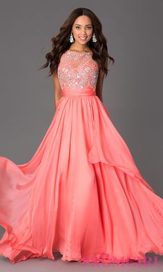Long Prom Dress Style: DQ-8681 Front Image