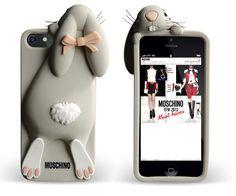 Le nuove cover per iPhone di Moschino, a forma di coniglio e panda | PopFactory