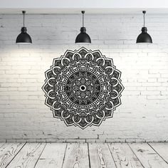 Mandala pared etiqueta Yoga Studio vinilo por IncredibleDecals