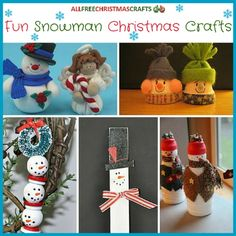37 Fun Snowman Christmas Crafts | These snowman crafts are fun for kids of all ages.