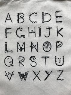 Cute Monster Alphabet Hand Embroidery Pattern - PDF Download by BlancJoony on Etsy https://www.etsy.com/listing/556677063/cute-monster-alphabet-hand-embroidery