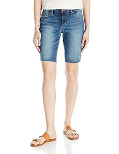 Joes Jeans Womens Finn Midrise Cut Off Bermuda Jean Short Leighla 32 >>> Find out more about the great product at the image link. #FashionHoodiesandSweatshirts