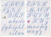 Schema alfabeto  Corsivo