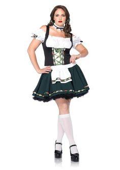 Leg Avenue Plus-Size Plus Size Bavarian Babe Includes Apron Dress and Choker