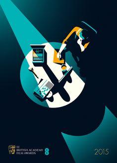 The Imitation Game (2014) ~ Minimal Movie Posters by Malika Favre ~ BAFTAS series