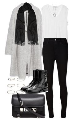 """""""Untitled #3658"""" by plainly-marie ❤ liked on Polyvore featuring Zara, Acne Studios, T By Alexander Wang, AG Adriano Goldschmied, Yves Saint Laurent, Forever 21, Proenza Schouler and Elsa Peretti"""