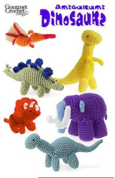 Picture of Amigurumi Dinosaurs - I think I can free hand some patterns.