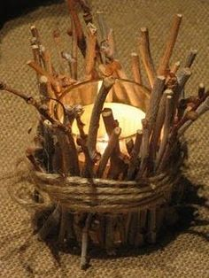 Twig votive candles for pocahontas? Cub Scouts, Girl Scouts, Eagle Scout Ceremony, Lumberjack Party, Deco Nature, Camping Theme, Camping Parties, Camping Gear, Thinking Day