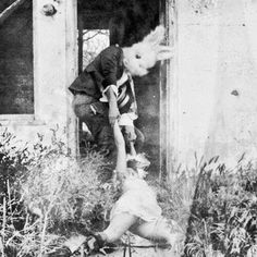 Now this is disturbing. Like the skeletons and nudes there are a lot of these creepy rabbit pictures about.WTF!