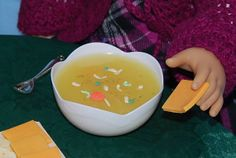 American Girl Doll Food  Chicken Noodle Soup in a by FauxRealFood, $8.00