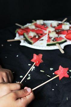 Estrellas de sandía para los más pequeños
