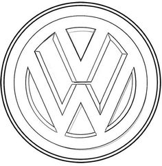 volkswagen logo coloring sheet - Classical VW Bus Coloring Pages Printable Free Coloring Sheets, Cool Coloring Pages, Mandala Coloring Pages, Free Printable Coloring Pages, Adult Coloring Pages, Coloring Books, Vw Bus, Auto Volkswagen, Auto Logo