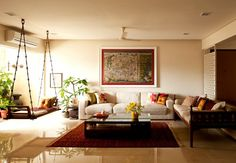 love this for a simple living room with short ceiling