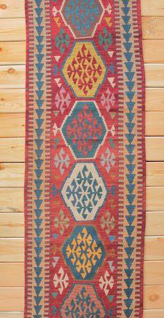 Turkish Rug Runner Boho Rug 2.59 x 8.92 ft Turkish Kilim Runner Rug Kilim Rug Area Rug Geometric Rug Bohemian Decor Kilim Ottoman Wool Rug by Rugsnrunners on Etsy