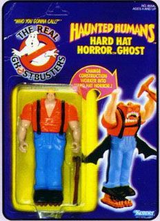 THE REAL GHOSTBUSTERS HAUNTED HUMANS HARD HAT HORROR GHOST ACTION FIGURE