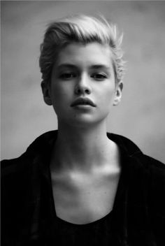 Girls with short hair. So cute! Wish I could pull it off!