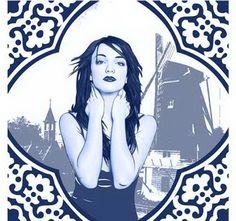 Delftware style pop art portrait for you