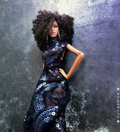 Look to the light of positivity. African American Beauty, African American Dolls, African Dolls, Barbie Life, Barbie World, Fashion Royalty Dolls, Fashion Dolls, Diva Dolls, Dolls Dolls