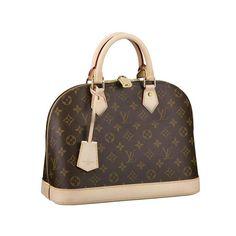 #LV #LVbags Louis Vuitton Alma Brown Top Handles M53151