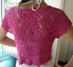 Bolero rosa, fácil y hermoso… | Mi Rincon de Crochet