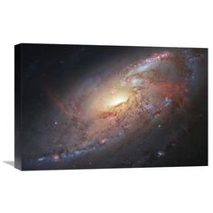 "Global Gallery Galaxy M106 Photographic Print on Wrapped Canvas Size: 16"" H x 24"" W x 1.5"" D"