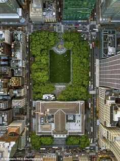 New York City skyline in stunning aerial images you've never seen before | Daily Mail Online