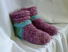 Crochet Slipper Socks for Women...inspiration only, no pattern