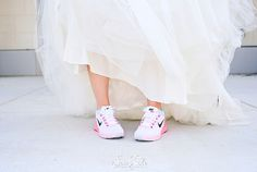What a comfortable, cute option for the athletic bride   Fairy Tale Photography