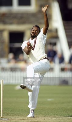 circa 1987, Malcolm Marshall, West Indies fast bowler, Malcolm Marshall played in 81 Test matches for the West Indies between 1978-1991 but he tragically died at the early age of 41 from cancer