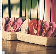 basket of flip flops