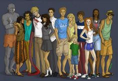 The Gone characters! {Michael Grant} From left to right Orc, Lana, sanjit, drake, Diana, Caine, Sam, Astrid, e