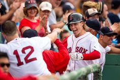 Doing it all  -         Brock Holt of the Boston Red Sox reacts after hitting a home run during the seventh inning against the Atlanta Braves on June 16 at Fenway Park in Boston. Holt went on to hit for the cycle to help the Red Sox win 9-4.    -     © Michael Ivins/Boston Red Sox/Getty Images