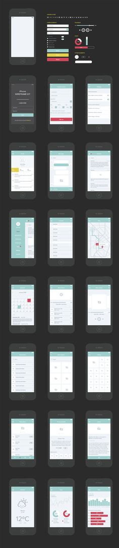 #Freebie: Free Vector UX / UI Wireframe Kit