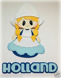 Made to Order International Beauty Holland Girl Set Paper Piecing by Kira | eBay